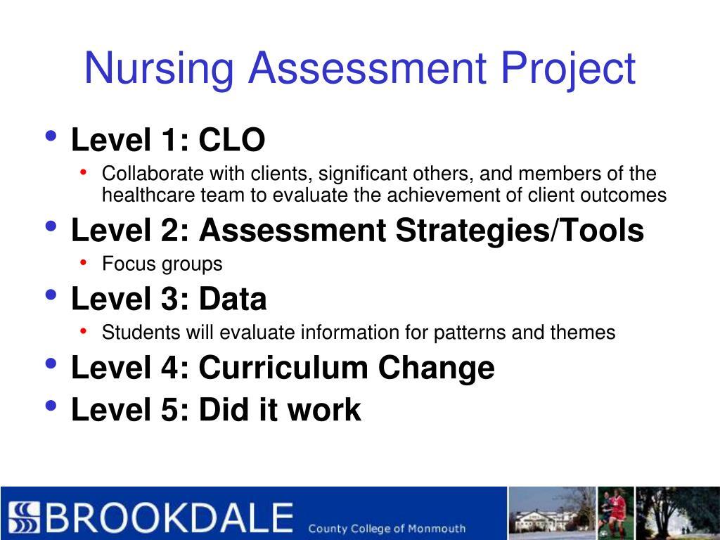 Nursing Assessment Project