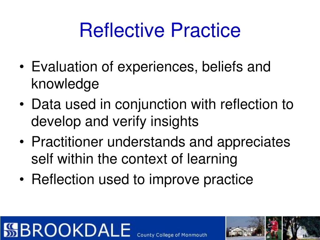 practice based self reflection Why smart goals targeted professional practice development increased student achievement focused on teacher practice based on self-reflection.