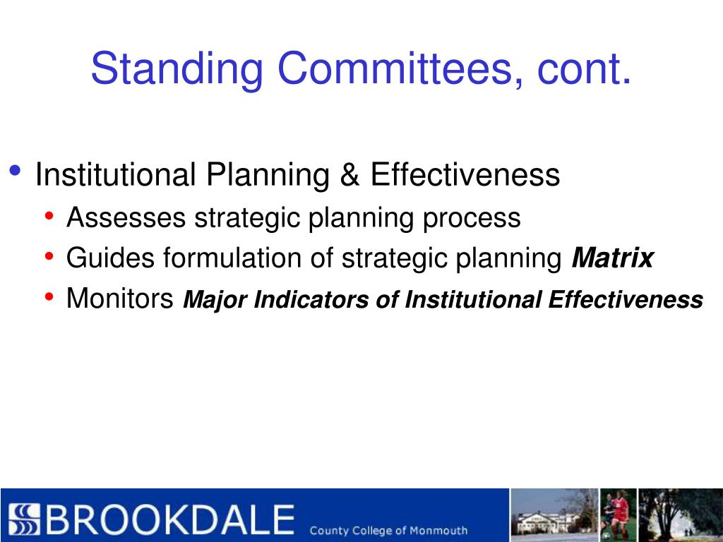 Standing Committees, cont.