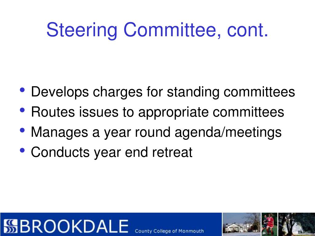 Steering Committee, cont.