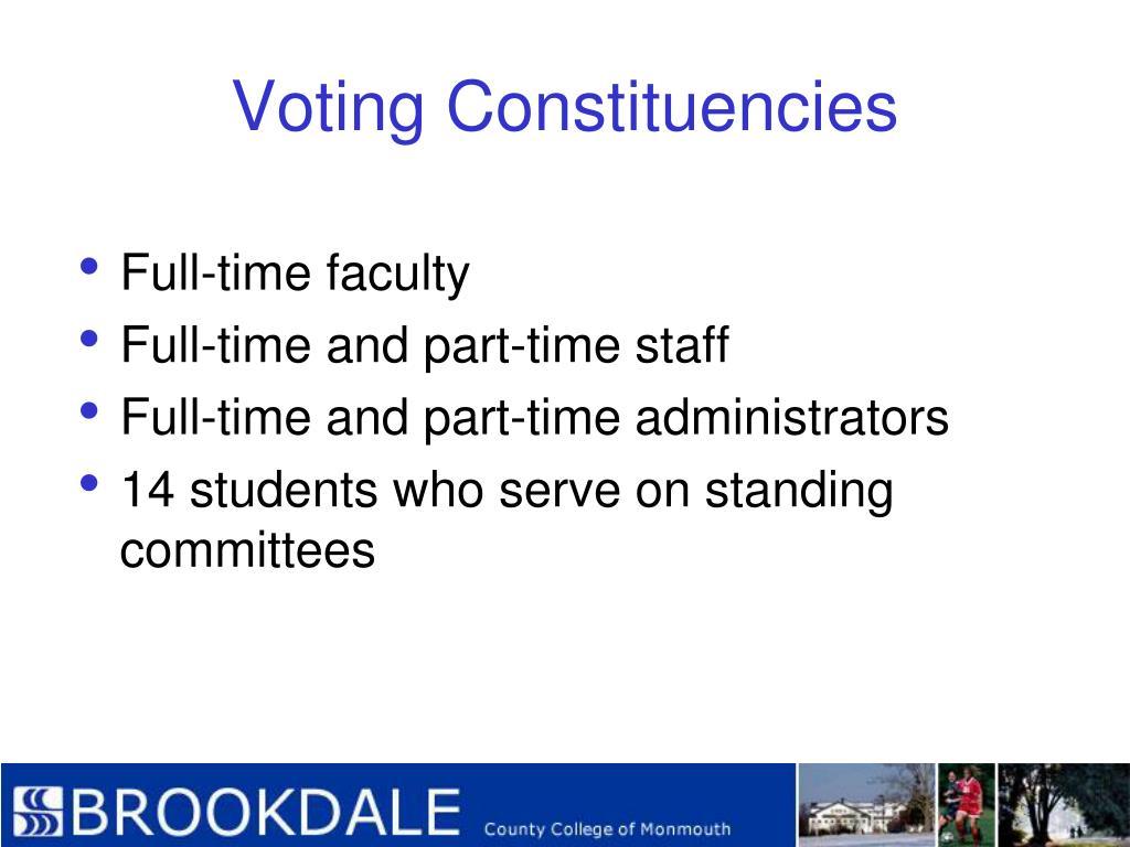 Voting Constituencies