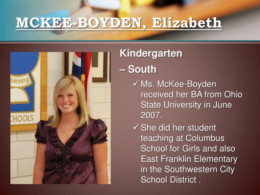 MCKEE-BOYDEN, Elizabeth