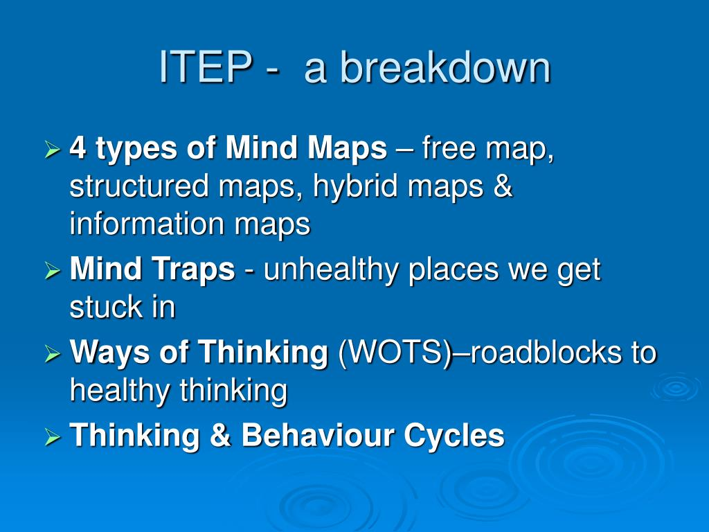 ITEP -  a breakdown