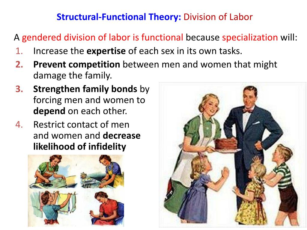 division of labor Division of labor, in economics, the specialization of the functions and roles involved in production division of labor is closely tied with the standardization of production, the introduction and perfection of machinery, and the development of large-scale industry.