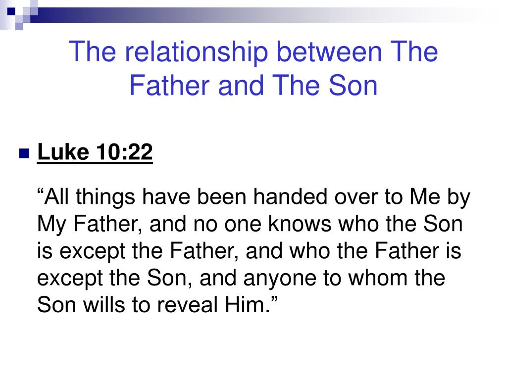 The relationship between The Father and The Son