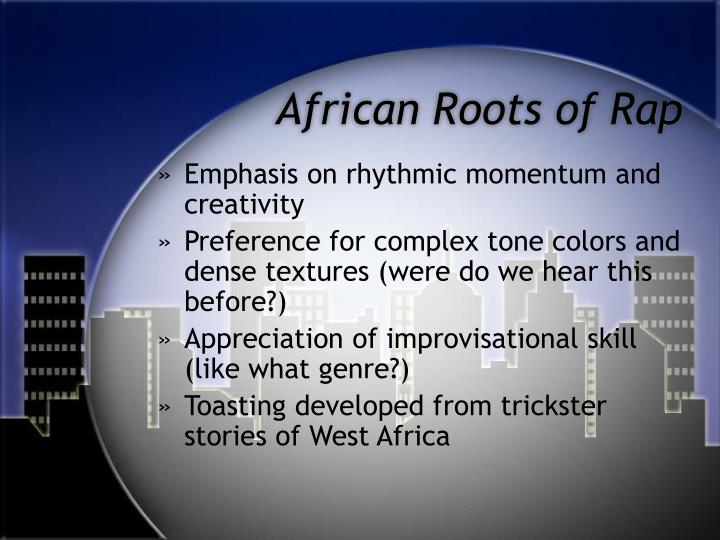 African roots of rap