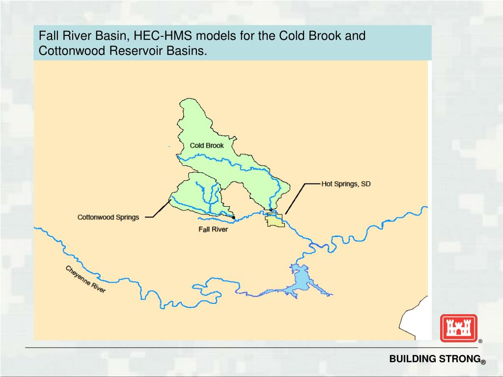 Fall River Basin, HEC-HMS models for the Cold Brook and Cottonwood Reservoir Basins.