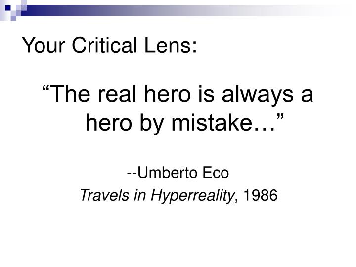 critical lens essay the words of