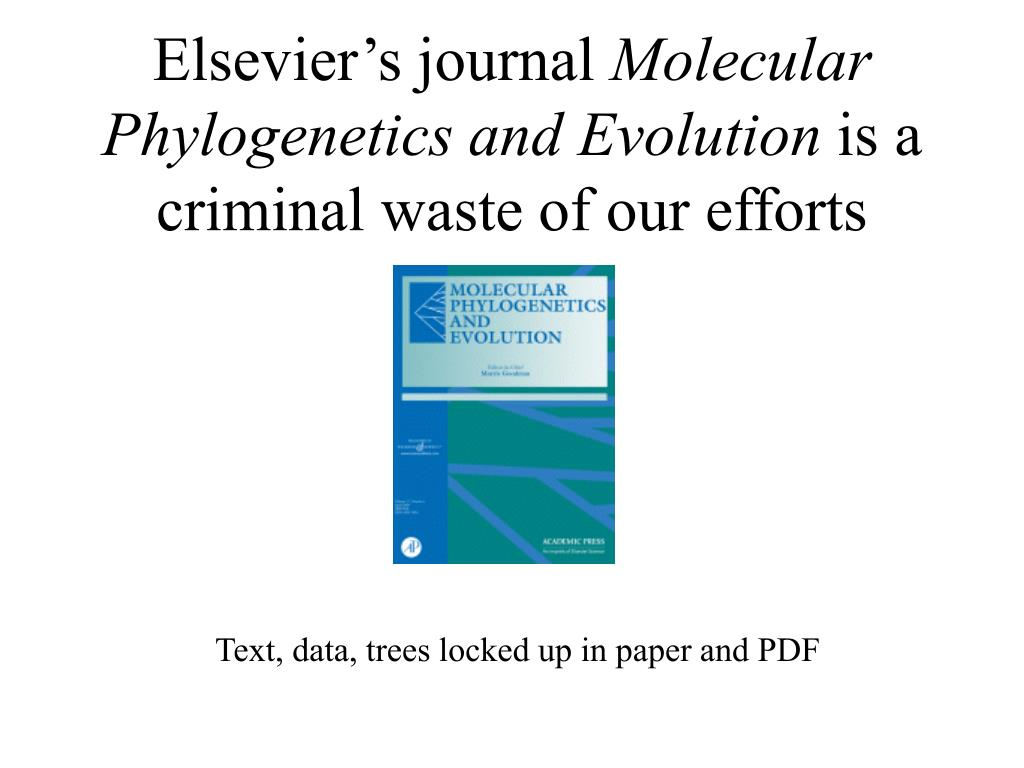 Elsevier's journal
