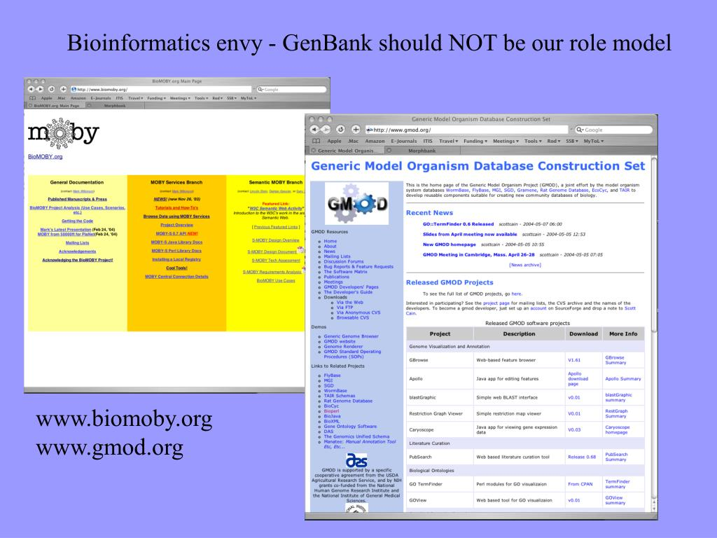 Bioinformatics envy - GenBank should NOT be our role model