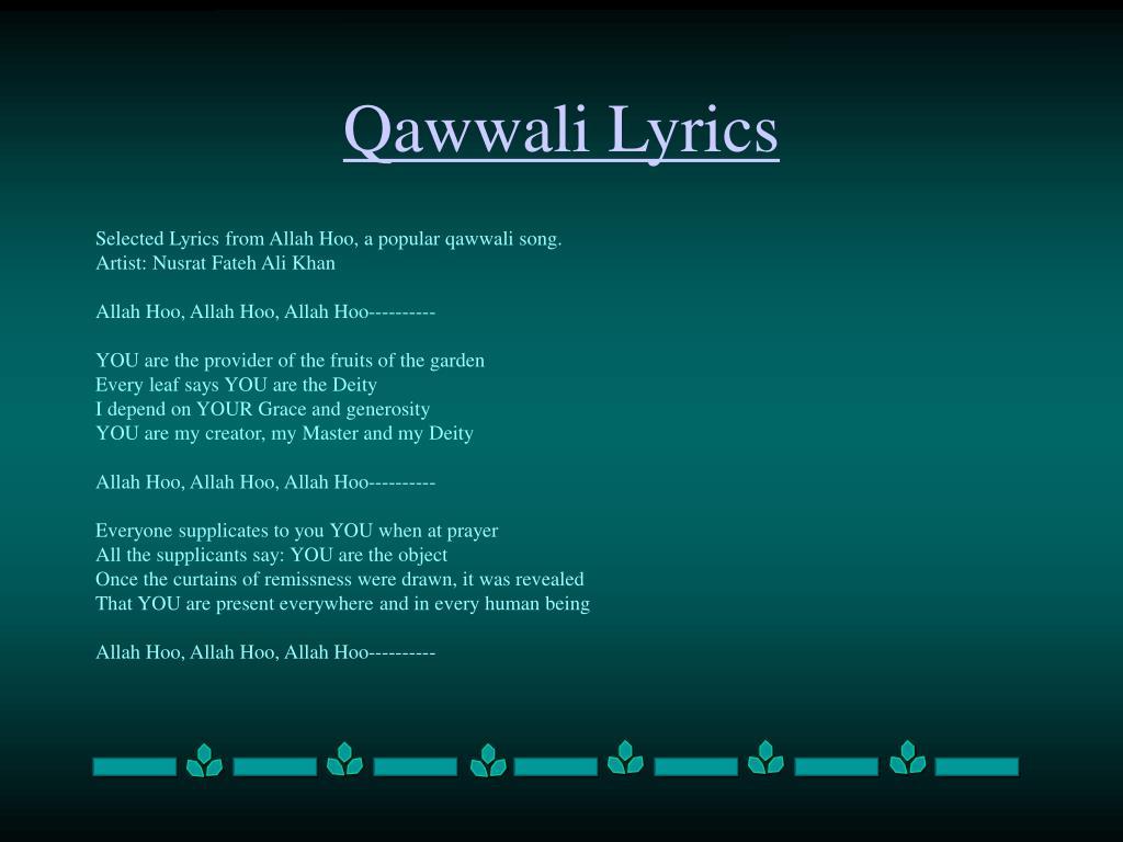 Qawwali Lyrics