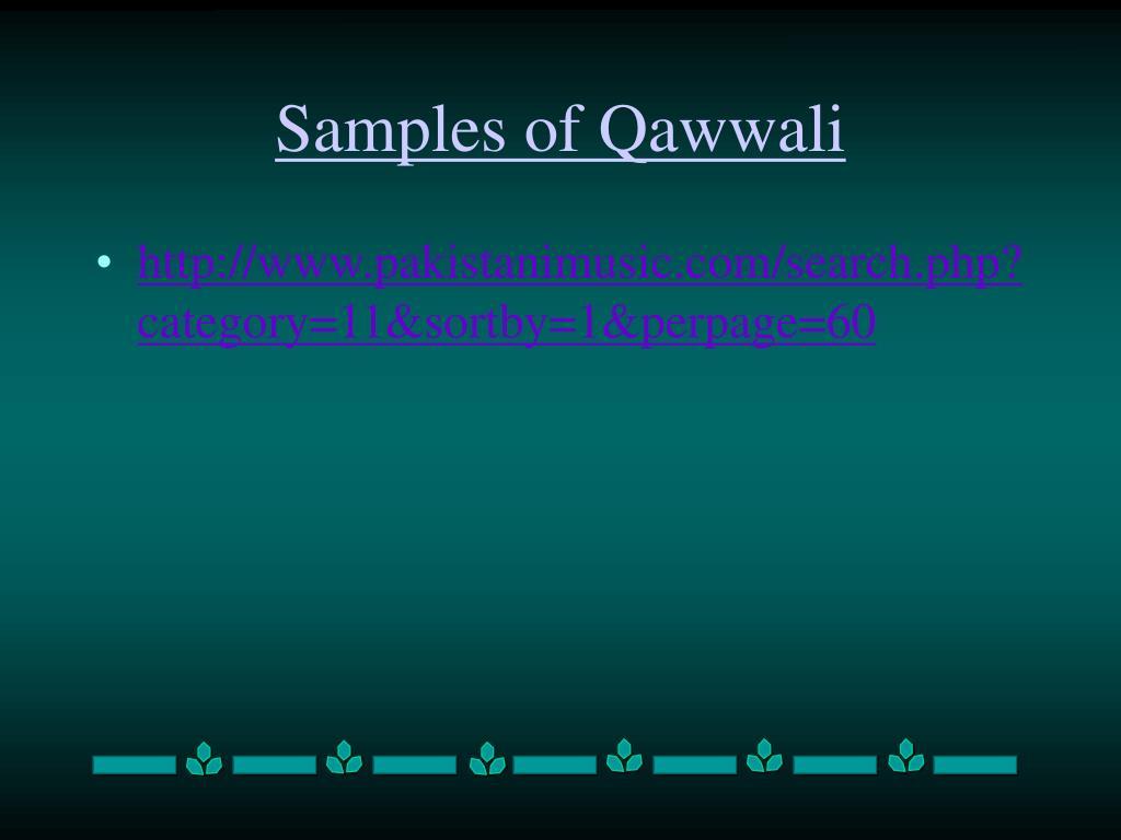 Samples of Qawwali