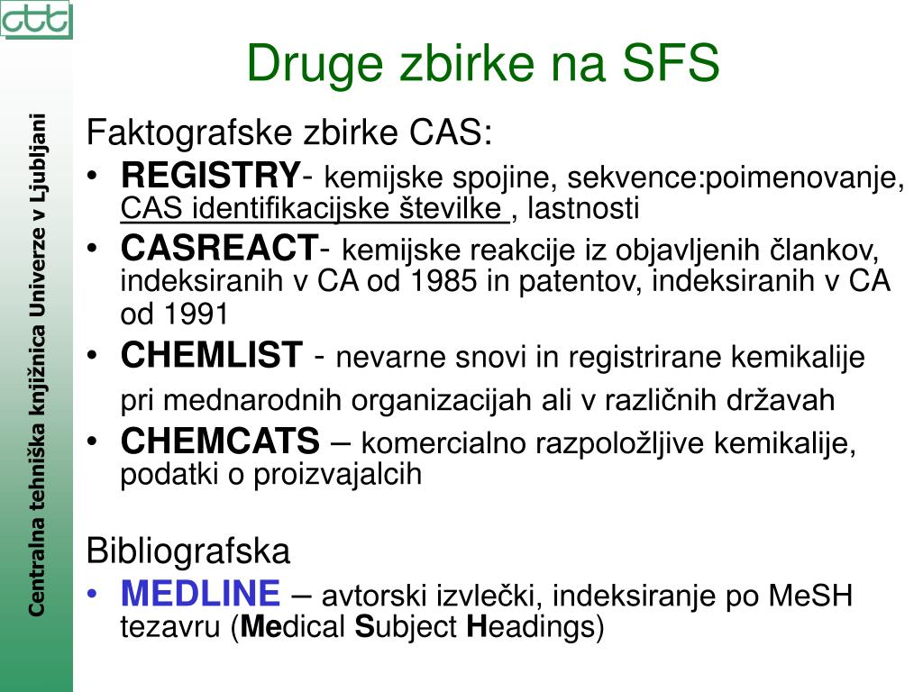 Faktografske zbirke CAS:
