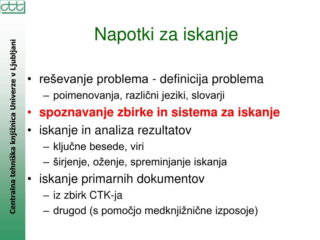 reševanje problema - definicija problema