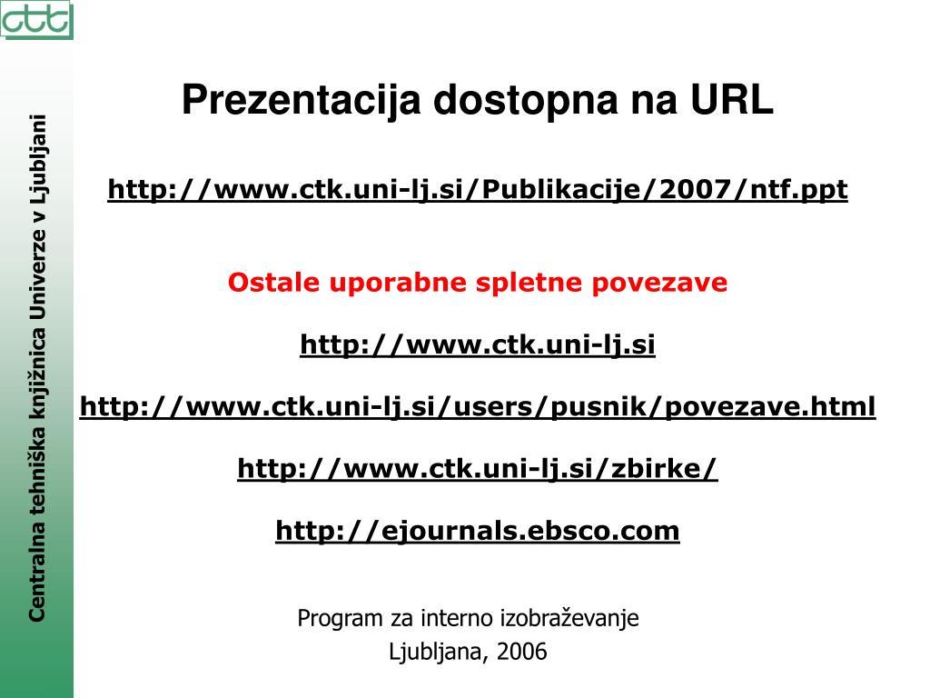 Prezentacija dostopna na URL