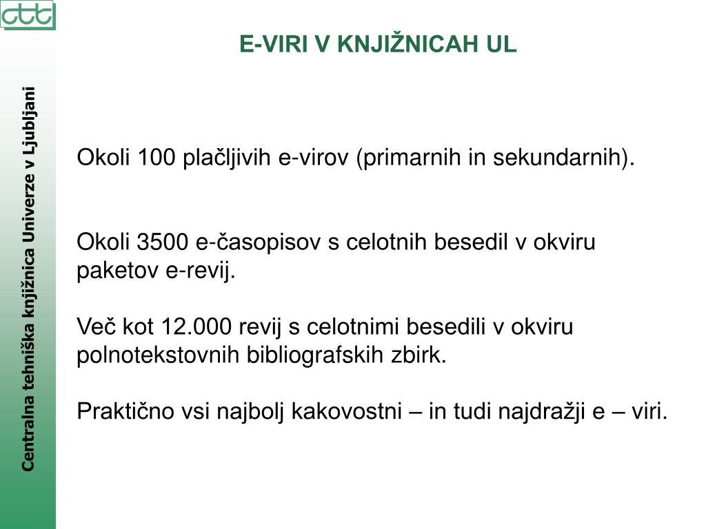 E-VIRI V KNJIŽNICAH UL