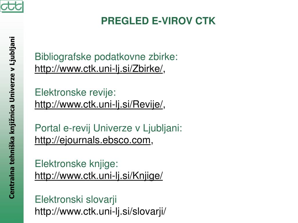 PREGLED E-VIROV CTK