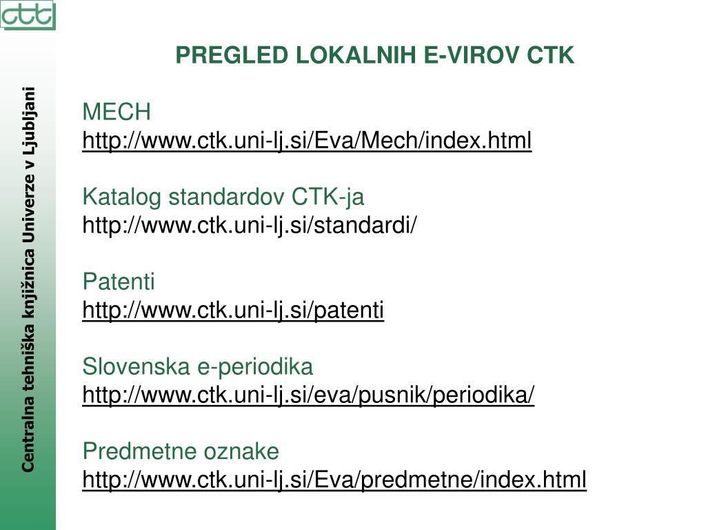 PREGLED LOKALNIH E-VIROV CTK