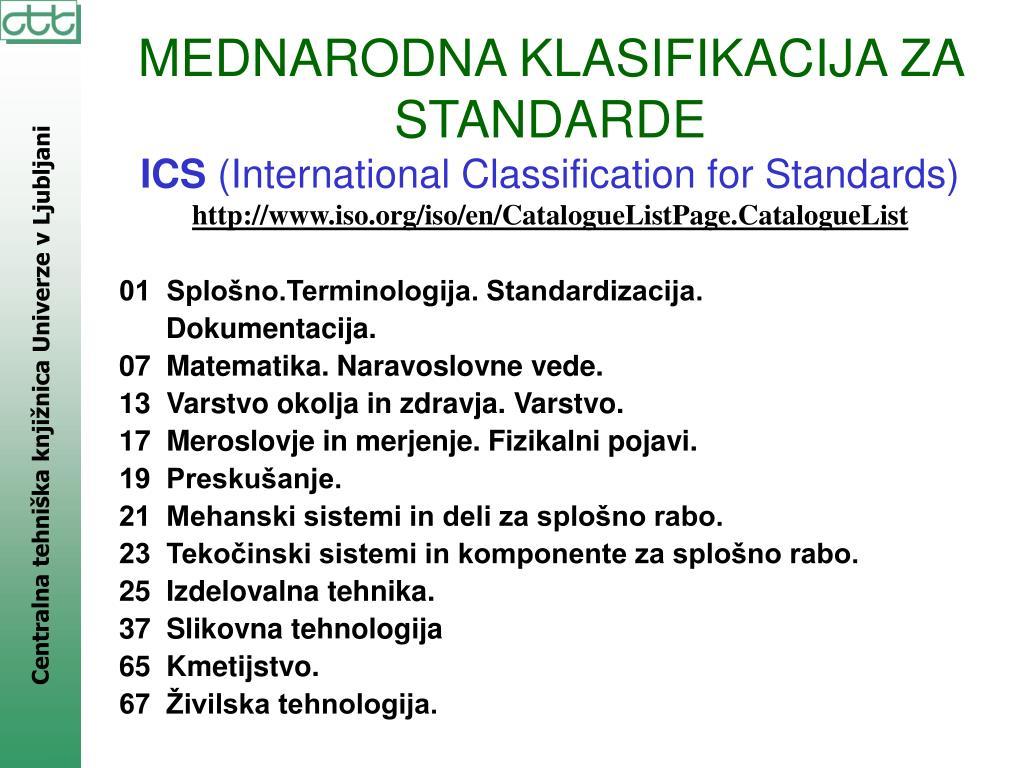 01  Splošno.Terminologija. Standardizacija.
