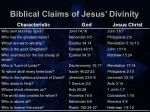 biblical claims of jesus divinity8