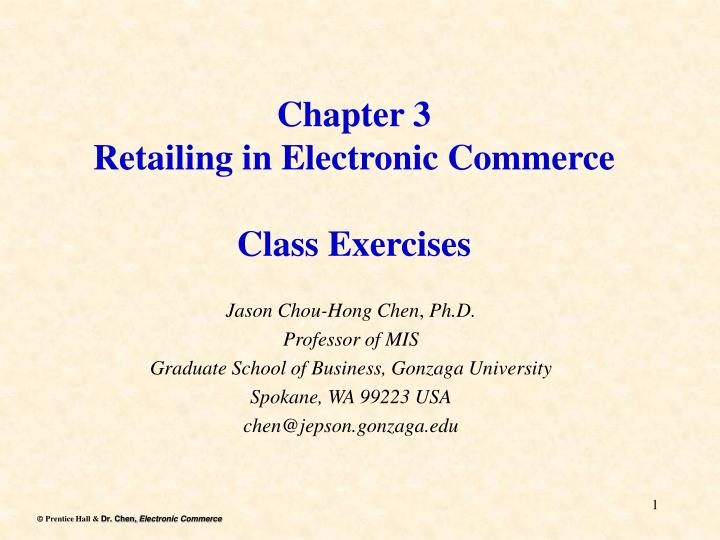 class exercises chapter 1