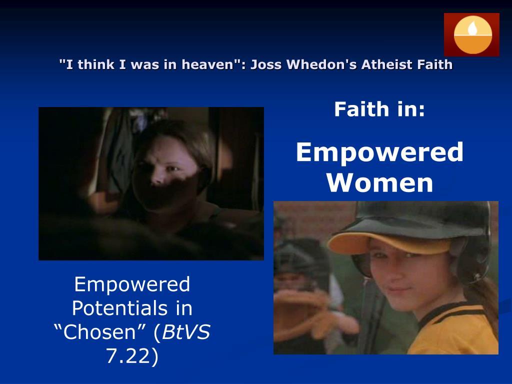Faith in: