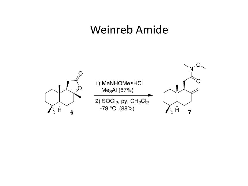 Weinreb Amide