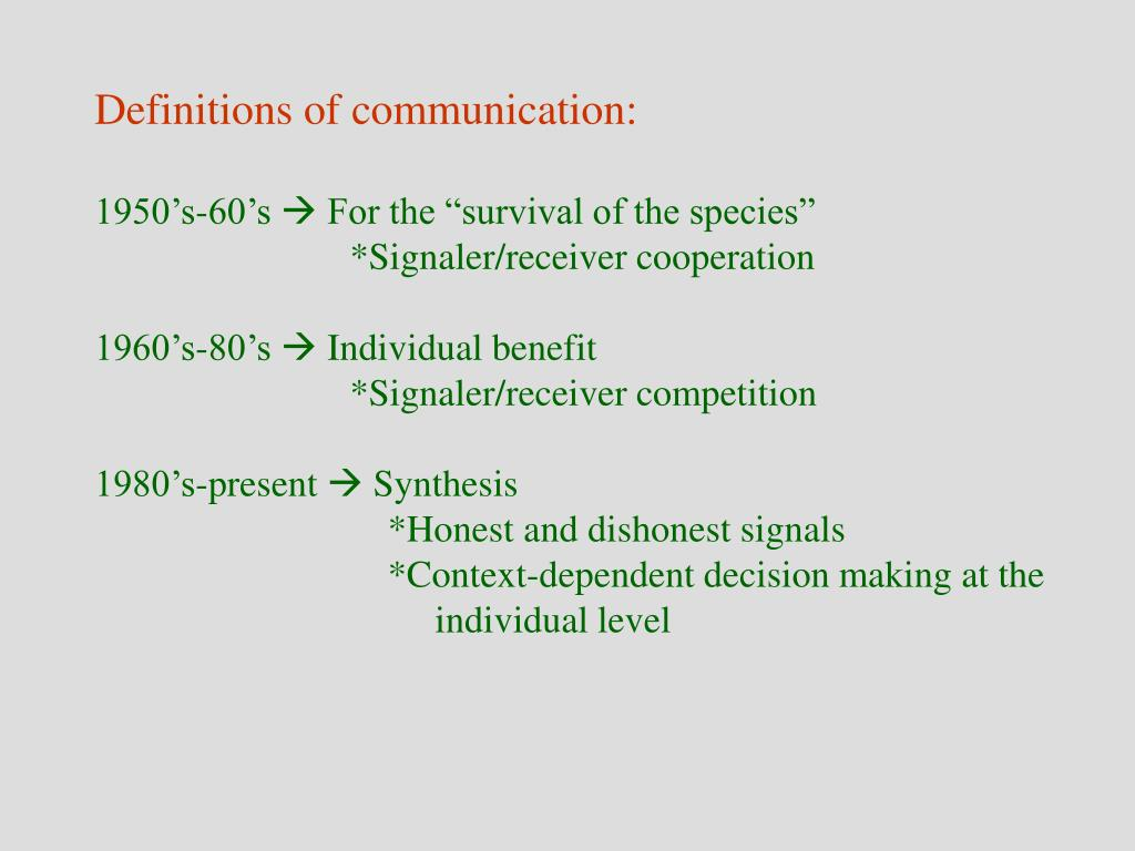 Definitions of communication: