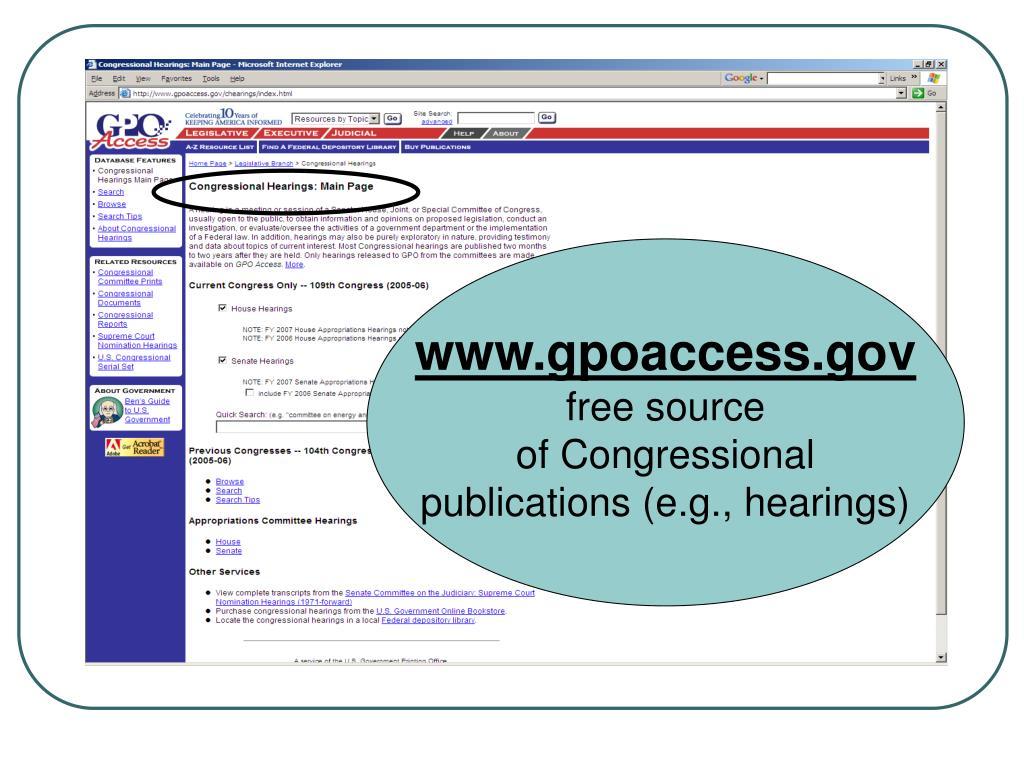 www.gpoaccess.gov