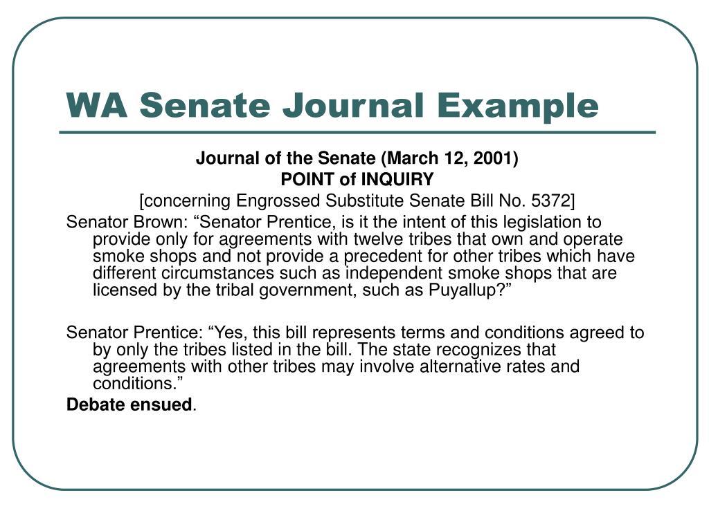 WA Senate Journal Example