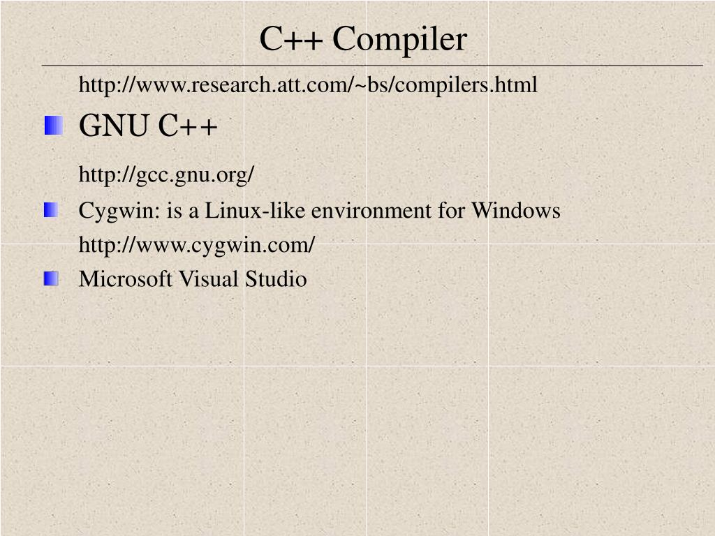 http://www.research.att.com/~bs/compilers.html