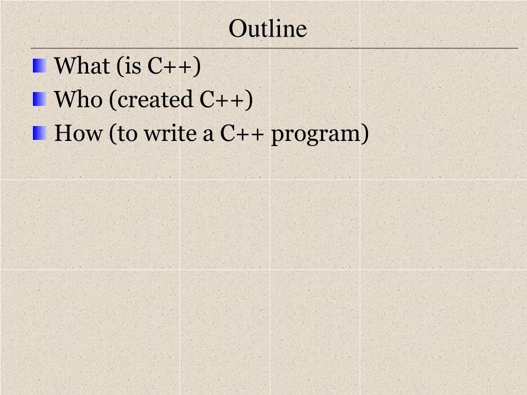 What (is C++)