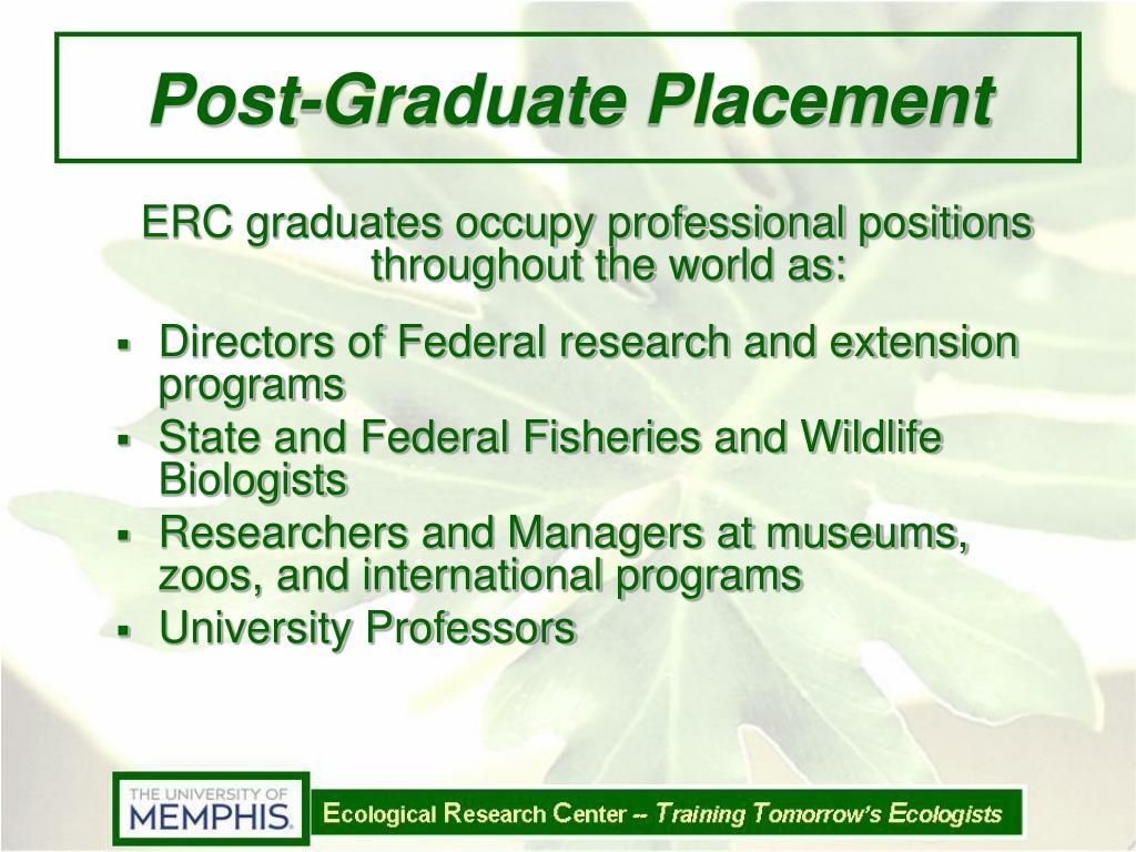 Post-Graduate Placement