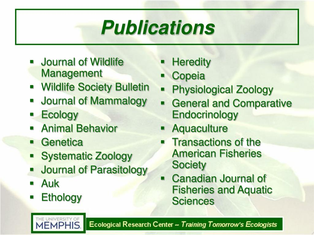 Journal of Wildlife Management