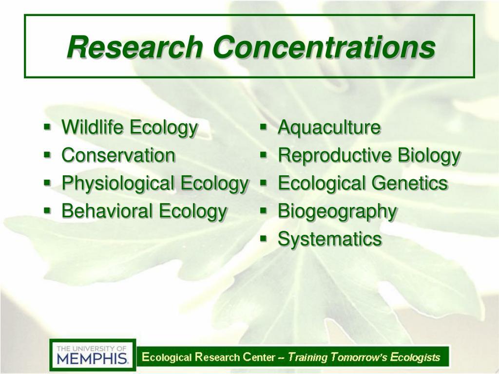 Wildlife Ecology