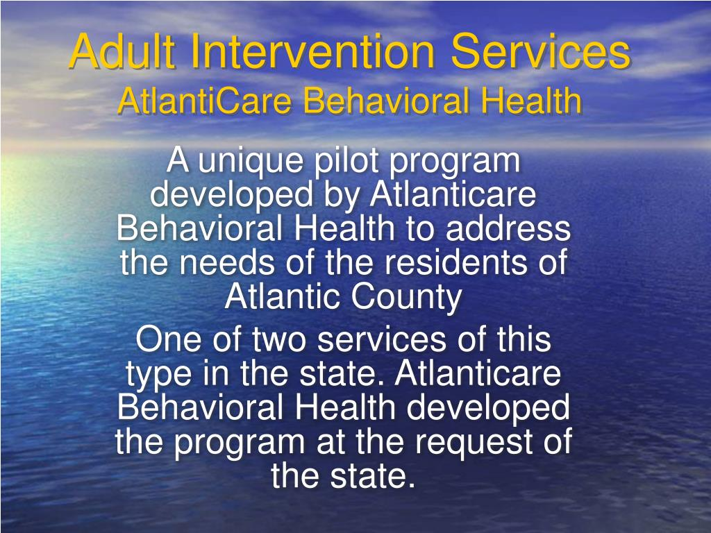 Adult Intervention Services