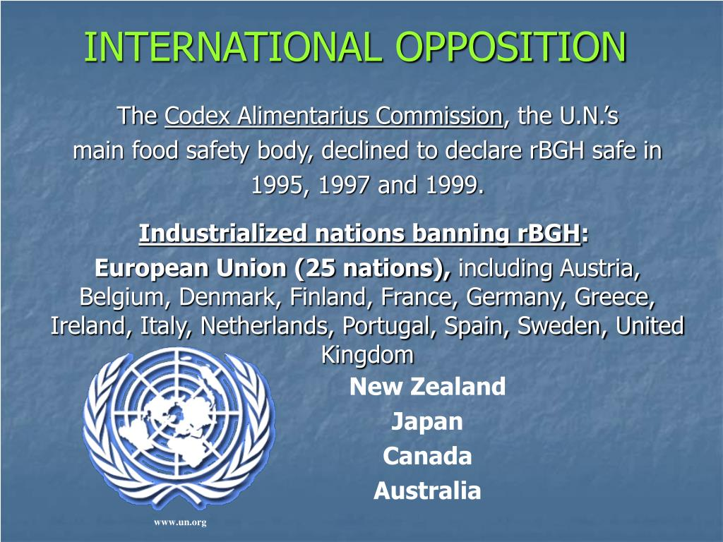 INTERNATIONAL OPPOSITION