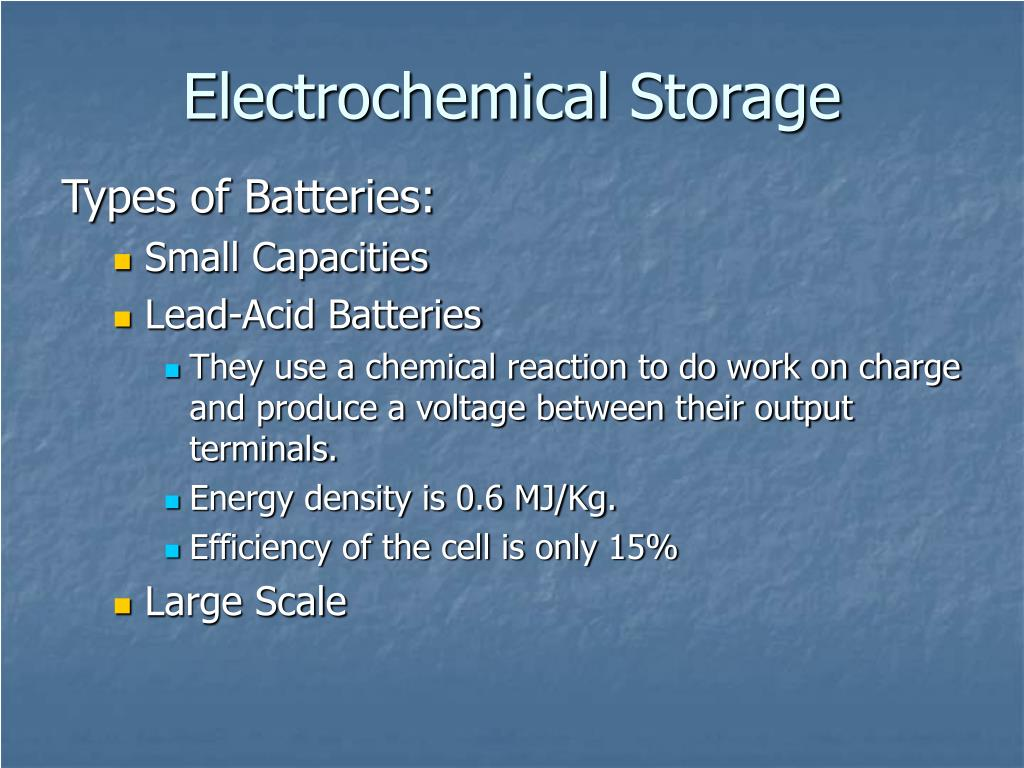 Electrochemical Storage
