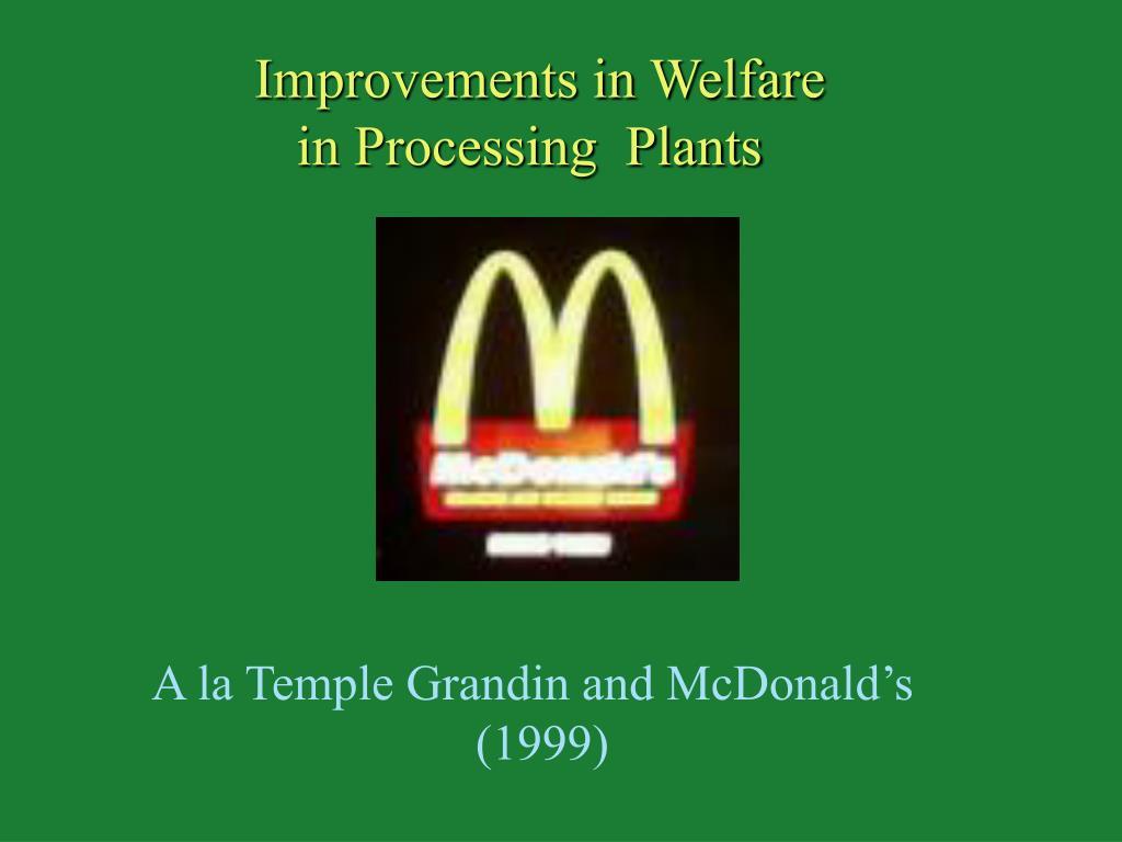 Improvements in Welfare