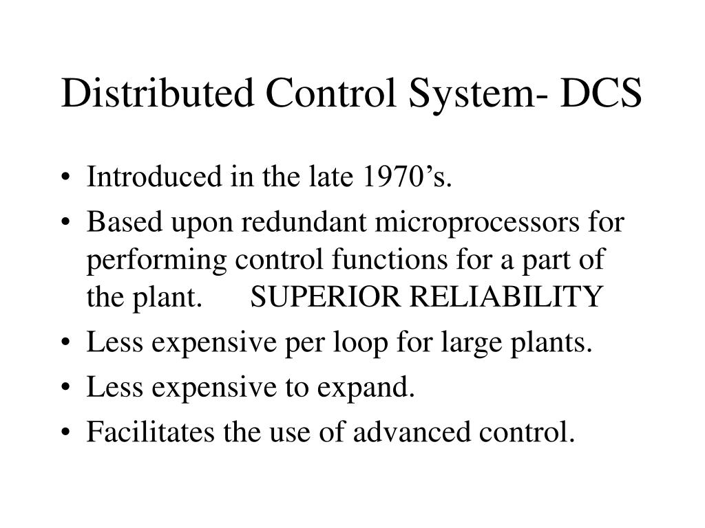 Distributed Control System- DCS