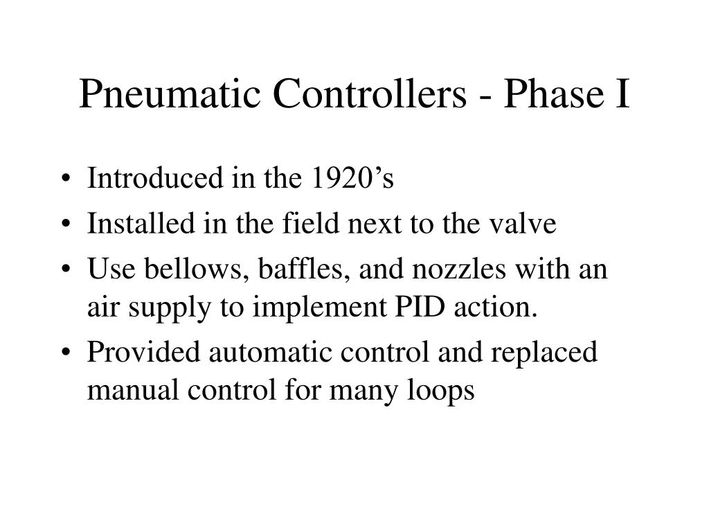 Pneumatic Controllers - Phase I