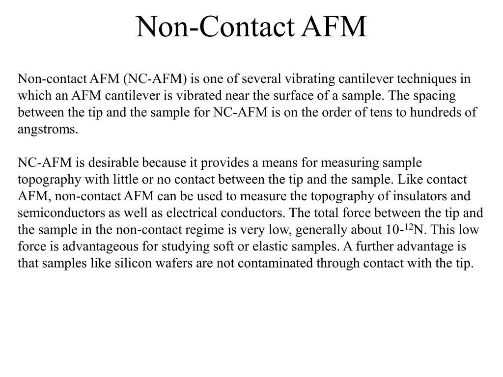 Non-Contact AFM