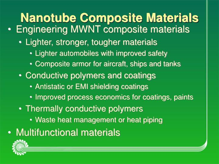 Nanotube Composite Materials