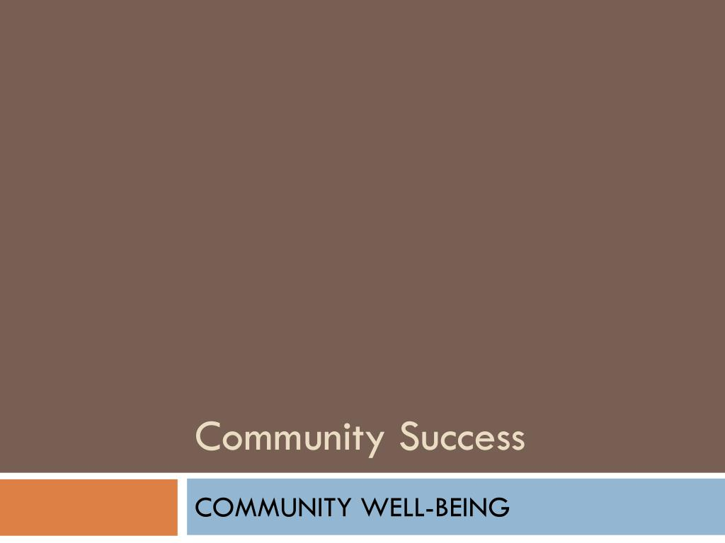 Community Success