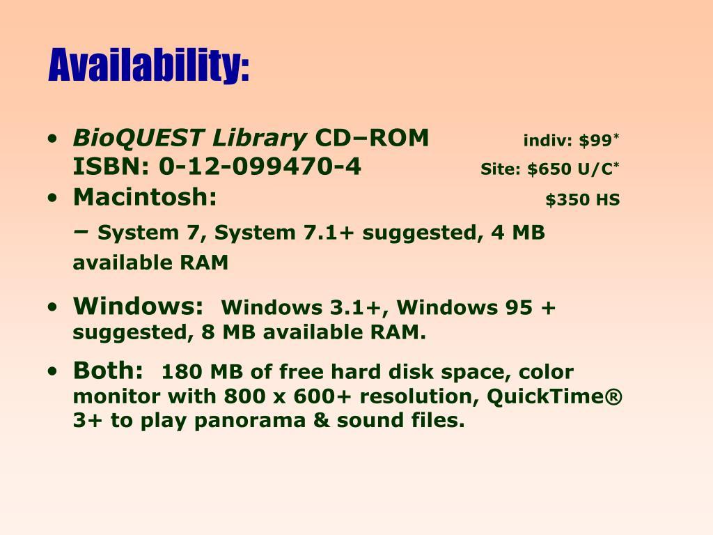 Availability: