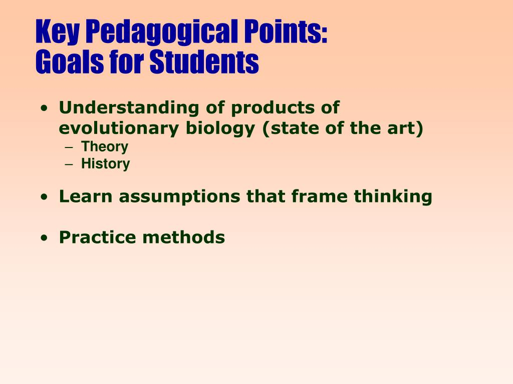 Key Pedagogical Points: