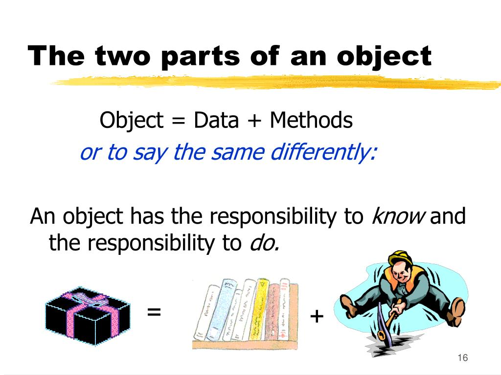 The two parts of an object