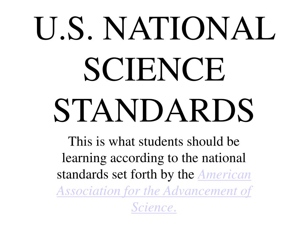 U.S. NATIONAL SCIENCE STANDARDS