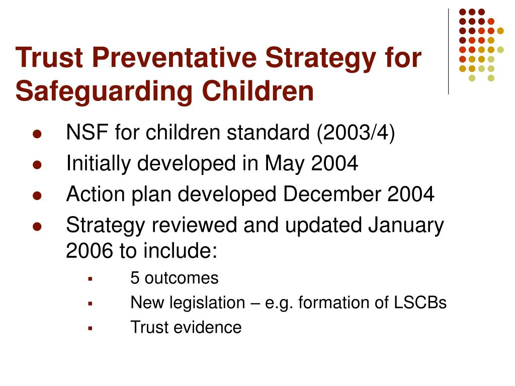 Trust Preventative Strategy for Safeguarding Children