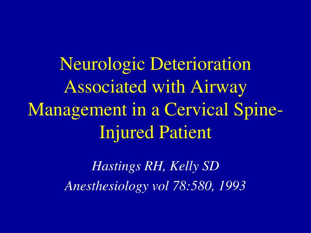 Neurologic Deterioration